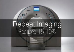 CT scan image.