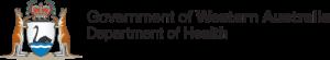 Western Australia Department of Health logo.