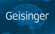Geisinger logo with a blue brain background