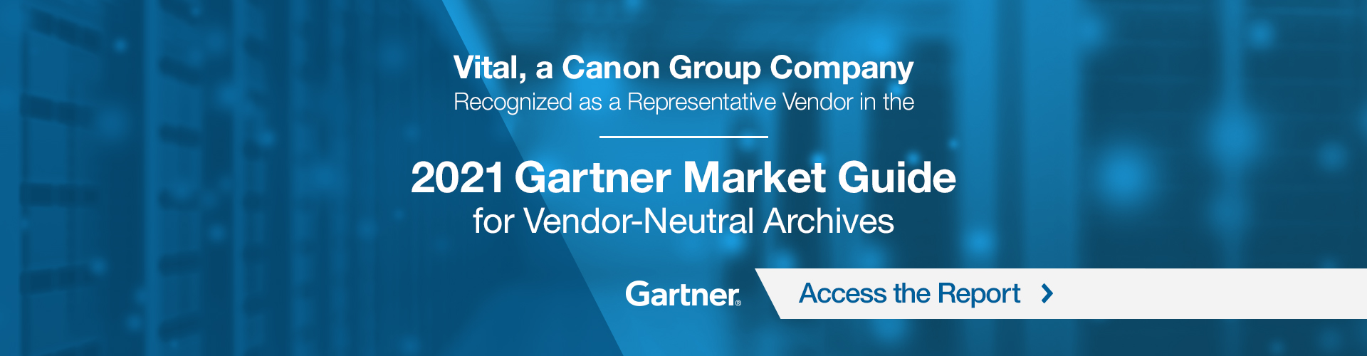 2021 Gartner Market Guide promotional banner.